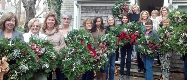 Christmas Wreath Making Workshop at Pastiche